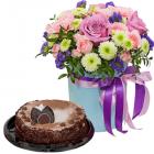 Композиция «Тиффани» с тортом